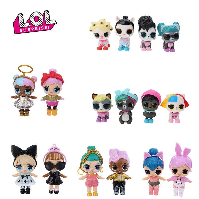 Brand New 8 Pcs/set Original Lol Surprise Toys Girls Surprise Lol Pet Baby Doll Girls Toys Doll Lol Surprises Kids Birthday Gift