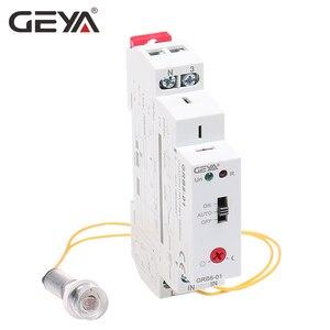 Image 3 - Darmowa wysyłka GEYA GRB8 01 szyna Din przełącznik zmierzchowy fotoelektryczny zegar czujnik światła przekaźnik AC110V 240V Auto ON OFF