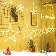 Christmas Lights Indoor Outdoor EU Plug 220V Moon Star Lamp LED String Decoration for Party Wedding Holiday Decorative Lights