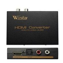 Wiistar hdmi & r/l & spdifオーディオと 2.1/5.1ch hdmiオーディオextractorの送料無料