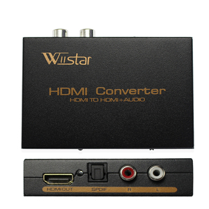 Image 1 - Wiistar hdmi to hdmi &R/L& spdif audio with 2.1/5.1ch hdmi audio extractor free shipping