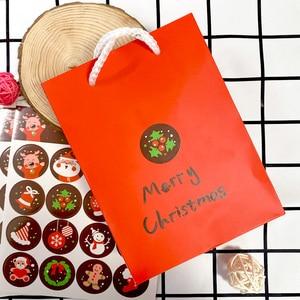 Image 3 - 1600 шт./лот Kawaii Merry Christmas, Санта Клаус, олень, круглые самоклеящиеся декоративные подарочные наклейки, подарочные этикетки, оптовая продажа