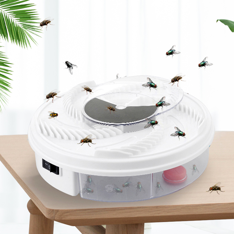 Electric Flycatcher Automatic Fly Trap Device With Trapping Food Fly Catcher/Trapper Pest Insect Flytrap USB Type Fly Trap Bait(China)