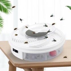 Elektryczny Flycatcher automatyczna pułapka na muchy urządzenie z pułapką żywności lep na muchy/traper Pest owad Flytrap rodzaj usb pułapka na muchy przynęta w Pułapki od Dom i ogród na
