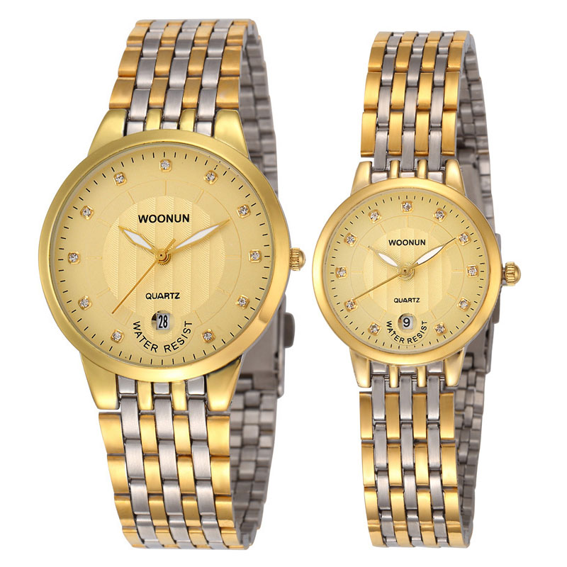 WOONUN 2020 New Couple Watches For Lovers Top Brand Luxury Ultra Thin Quartz Watches Women Men Lovers Watches Set Valentine Gift