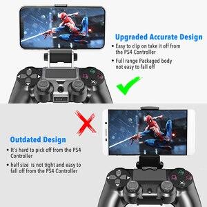Image 4 - PS4 controller Impugnatura Del Basamento Della Clip Supporto Astuto del Telefono Mobile del basamento del Morsetto Staffa di Montaggio Gamepad Controller Supporto Del Basamento per PS4