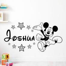 Disney baby Микки Маус теплые наклейки на стену с именем заказ