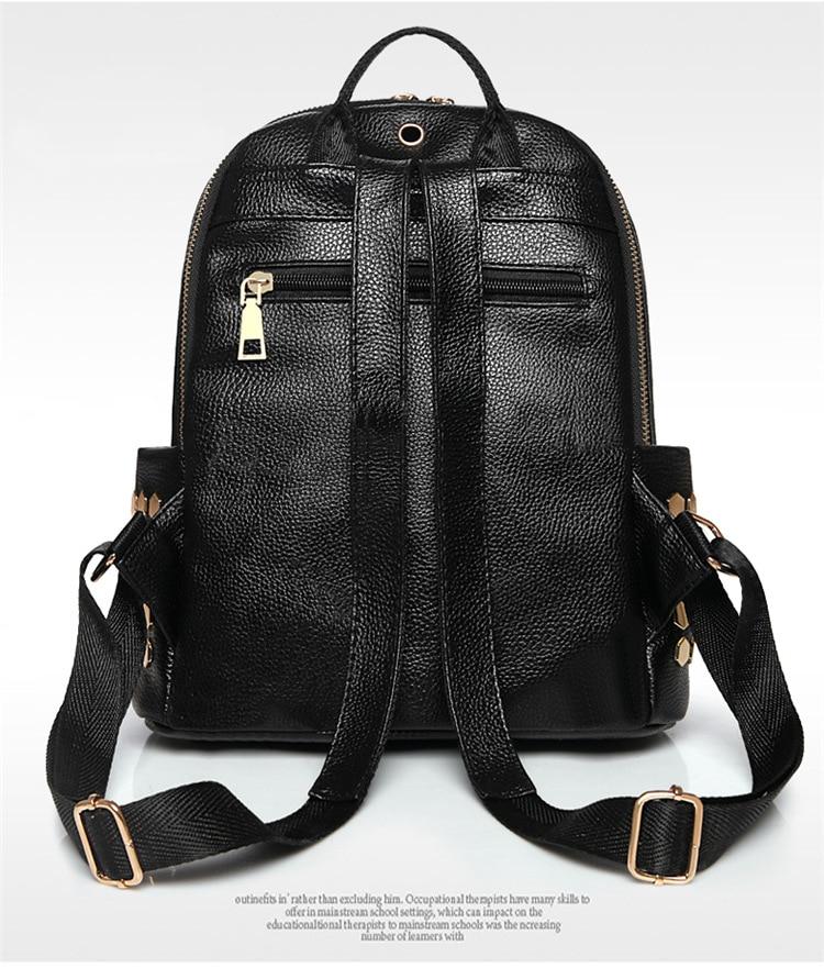 Hb92051ef40b44dfb999a32b1790f5b95z Luxury Famous Brand Designer Women PU Leather Backpack Female Casual Shoulders Bag Teenager School Bag Fashion Women's Bags