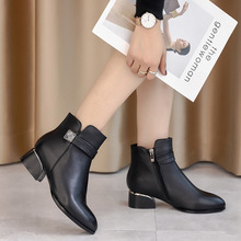 Winter  Women Martins Platform Genuine Leather Waterproof Boot Shoes