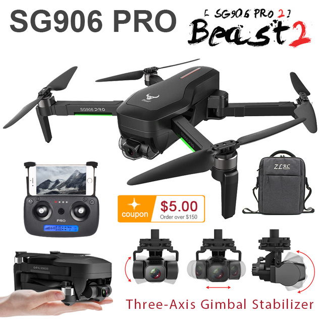 SG906 GPS 드론 4K 5G 와이파이 캠 SG906 프로 Pro2 듀얼 카메라 드론 profissional 2 3 축 안정제 카메라 Quadrocopter Dron