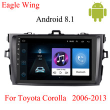 Android 8.1 car radio multimedia video player For Toyota Corolla E140/150 2007-2012 with car dvd GPS player Support free map(China)