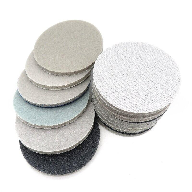 3-Inch 75MM Sponge Block Disc Sandpaper Self-Adhesive Velvet Amber Mahogany Jade Phone Case Polishing