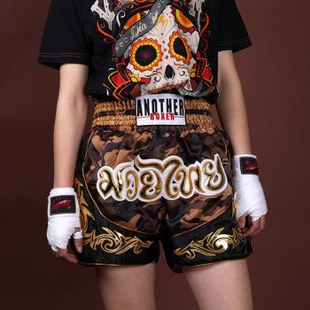 Kamuflaż tajski boks spodenki Kick Crossfit walki walki szorty Patchwork bokserki męskie sportowe kufry dzieci MMA Muaythai spodnie XXXL tanie i dobre opinie CN (pochodzenie) POLIESTER Camouflage muay thai shorts Dobrze pasuje do rozmiaru wybierz swój normalny rozmiar thai boxing shorts