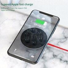 Chargeur rapide 10W chargeur sans fil Portable pour iPhone 8 plus 11 X Xs Xr ventouse Qi chargeur sans fil pour Samsung Note 9 10