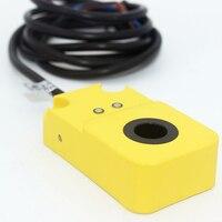 Sensor de proximidade indutivo amarelo da c.c. 6 36 v 3 linhas npn n/o anel para a detecção do metal com cabo de 1.5m|Sensor e detector| |  -