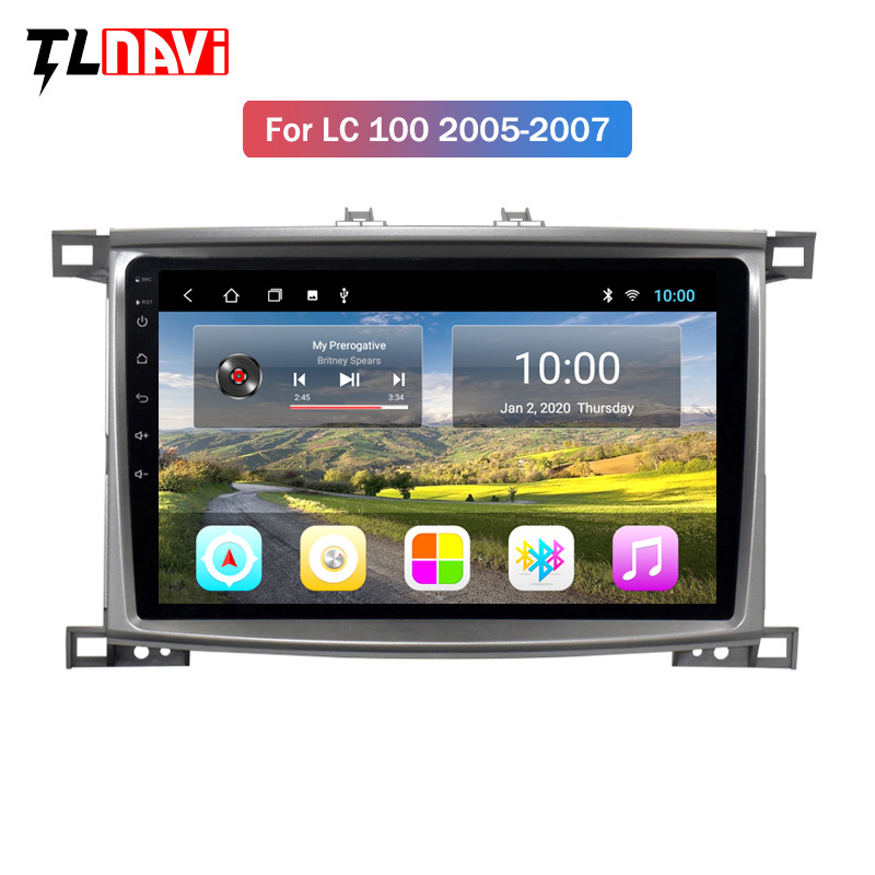2G RAM Android 9 Car Radio for <font><b>Toyota</b></font> Land cruiser <font><b>100</b></font> LC100 <font><b>LC</b></font> <font><b>100</b></font> 2005-2007 multimedia player Auto radio image