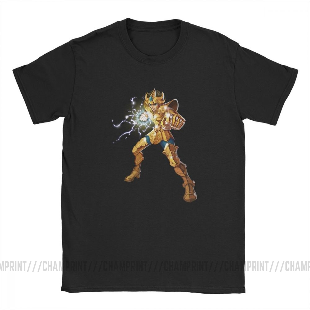Image 3 - Novelty Leo Constelacion T Shirt Men Cotton T Shirt Knights of the Zodiac Saint Seiya 90s Anime Short Sleeve Tees Plus Size TopsT-Shirts   -