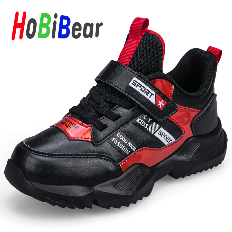 Spring New Arrival Kids Sport Running Shoes For Boy Leather Children Sneakers Fashion Teenager Sport Shoes Brand Big Boy Shoes
