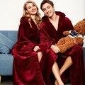Зимняя теплая ультрадлинная фланелевая Мужская одежда, повседневная одежда для сна с капюшоном, для 130 кг, халат для мужчин и женщин, толстая...