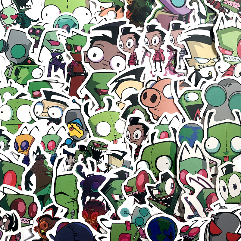 10/50Pcs/Set Alien Graffiti <font><b>Stickers</b></font> ET <font><b>UFO</b></font> Cartoon <font><b>Stickers</b></font> Gifts Toys for Children DIY Skateboard Laptop Car Phone image
