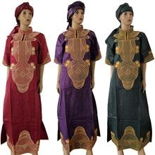 Maxi-Dress Wedding Plus-Size Africain Femme Women Ladies MD Boubou with Crystal Shiny