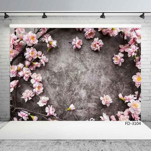 Image 3 - Pink Flowers Gray Wall Photo Backgrounds Vinyl Cloth Photobooth Backdrop for Children Baby Lovers Photocall Photography Props