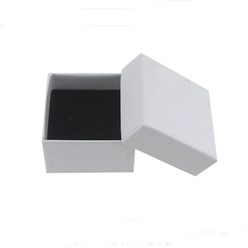 5*5*3cm livraison gratuite en gros 100 pcs/lot blanc anneau boucle d'oreille emballage cadeau boîtes boîte pour bijoux-in Boîtes et vitrines à bijoux from Bijoux et Accessoires    1