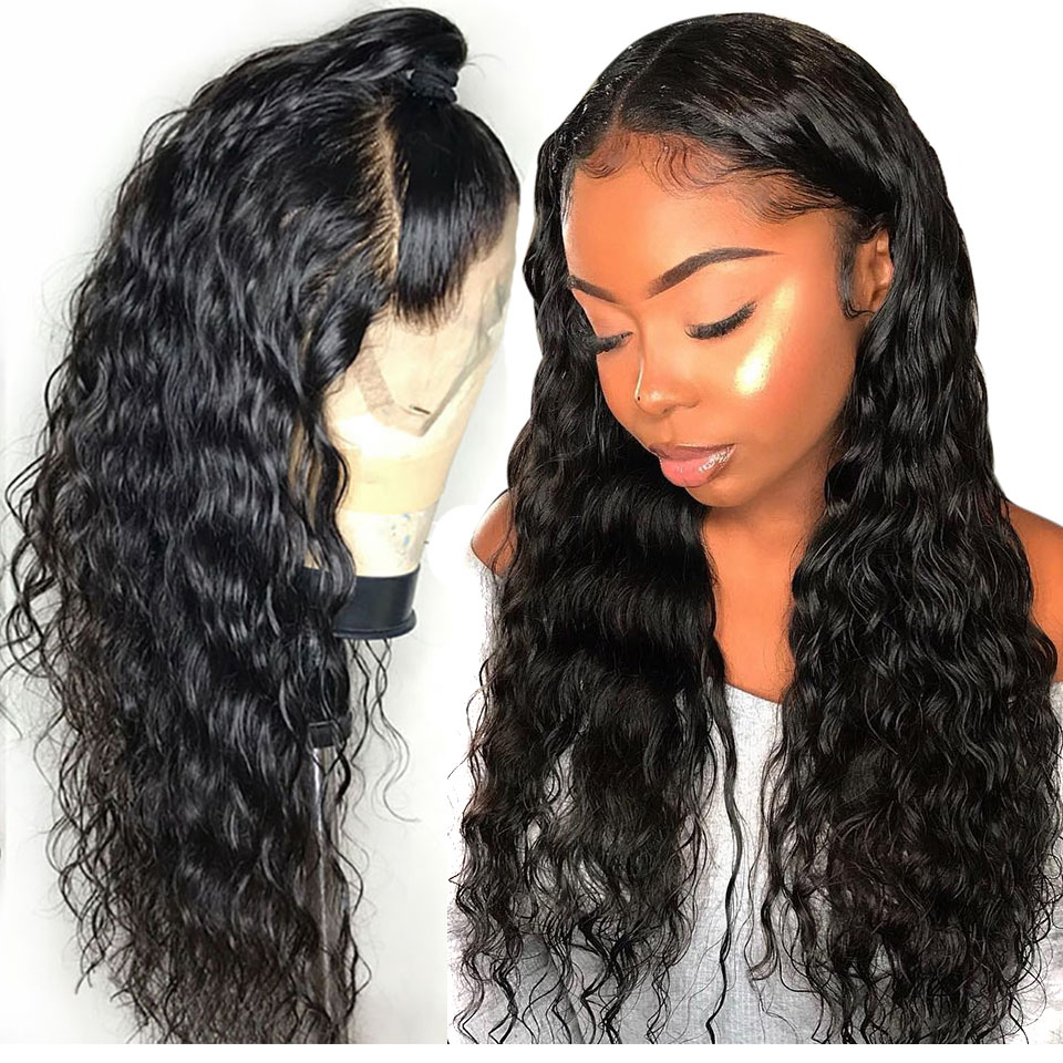 Brazilian Water Wave Wig 13*4 Lace Front Human Hair Wigs Pre Plucked Natural Hairline 150% High Radio Remy Hair Wigs Sapphire