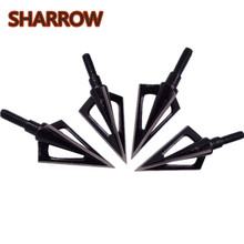 3/4/6/9/12pcs Archery Broadhead Points Arrowheads 3 Blades Stainless Steel Black Arrow Head Tips Outdoor Shooting Accessories