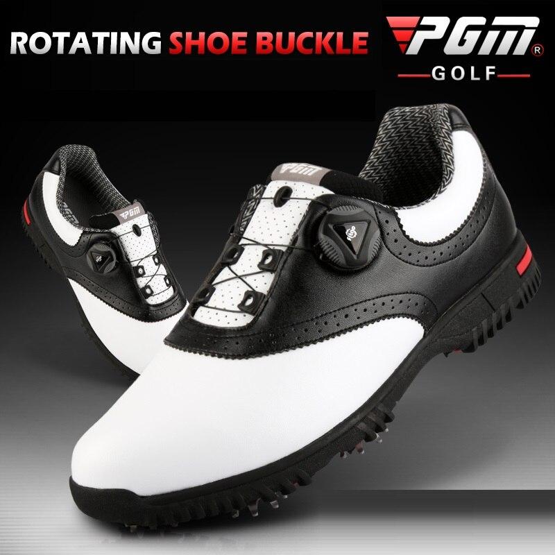 PGM Men Golf Shoes Waterproof Sports Shoes Rotating Buckles Anti-slip Sneakers Multifunctional Golf Trainers 3