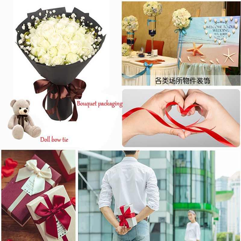 25Yards/Rolle red silk satin band Bogen hochzeit Dekoration DIY stoff bänder für handwerk weihnachten Geschenke Verpackung liefert