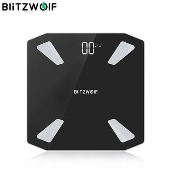 BlitzWolf BW-SC3 Smart WIFI APP Control Body Fat Scale Digital LED Scale USB Charging 13 Body Metrics Data Analysis Smart Home