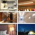 LED Motion Sensor Closet Lights Bed Lamp Cabinet Lamp Kitchen Wall Lamps Under Cabinet Lightening Cordless Portable Cupboard
