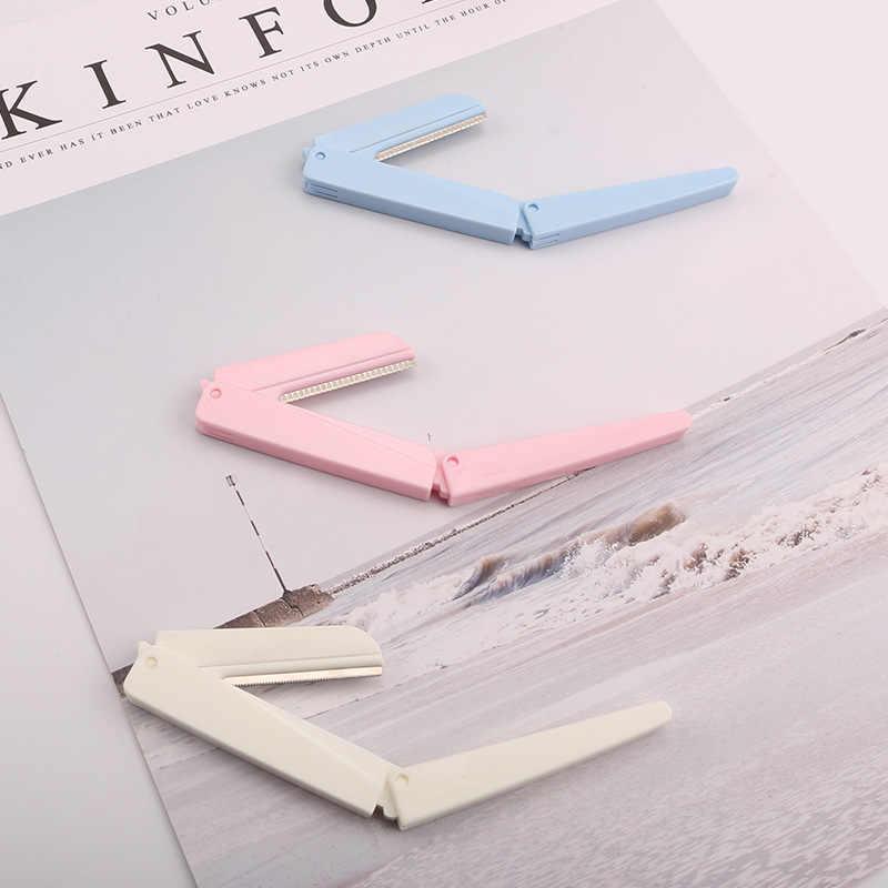 Tri-לקפל סגנון גבות סכין נשים של מתקפל גבות מגרד נירוסטה מאקרו להבי גבות סכין