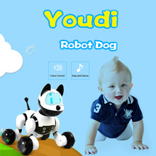 Buy Intelligent electronic machine dog pet dog voice control machine dog voice dialogue children's toys electronic pet directly from merchant!