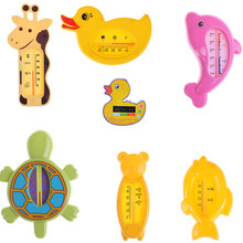 1pc Baby Bath Thermometer For Newborn Small Bear Fish Dolphin Duck Water Temperature Meter Bath Baby Bath Toys Thermometer Bath(China)
