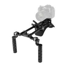 CAMVATE מצלמה כתף Rig עם Manfrotto שחרור מהיר Baseplate & עדשת תמיכה עבור DSLR מצלמה/DV למצלמות תמיכת מערכת