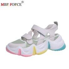 MBR FORCE New Summer Women Sandals 2020 Multicolor Sole Ladies Shoes Casual Flat Platform Shoes Comfortable Leisure Women sandal