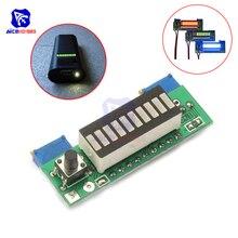 Diymore tarjeta gráfica LM3914, batería Lipo de capacidad, módulo indicador rojo/Verde/azul, probador de nivel de potencia LED, Kit DIY para juguetes RC