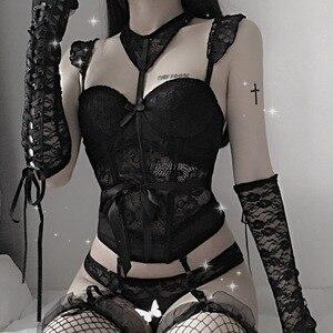 Image 3 - Corpiño y corsé Sexy para Cosplay para mujer, corsé elástico de alta elasticidad para mujer, corpiño liso para mujer, corsé de realce, lencería Sexy Steampunk