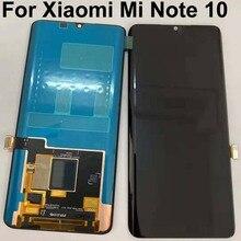 6.47 nuovo Originale Super Amoled Per Xiaomi MI Nota 10 /MI nota 10 Lite Display LCD Bordo Dello Schermo + touch Screen Digitizer Assembly