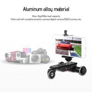 Image 2 - Andoer Aluminium Legierung Motorisierte Video Kamera Dolly Track Slider + Telefon Halter für GoPro Hero 7/6/5 canon Nikon Sony DSLR Kamera