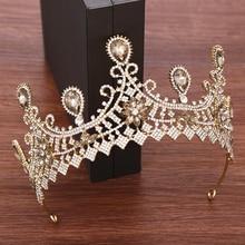 Rhinestone Crystal Crown Bride Tiara Wedding Hair Accessories Princess Diadem Women Wedding Crown Headband bridal Headpiece цена и фото
