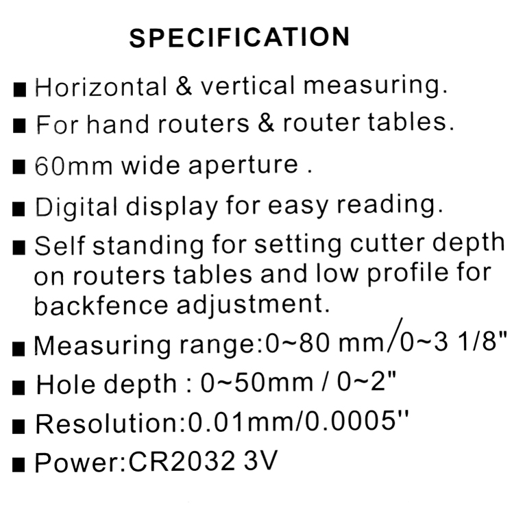 KKmoon High Precision LCD Digital Display Slide Caliper Vernier Ruler Height and Depth Gauge with Measuring Range of 0-85mm Bottom with Magnets
