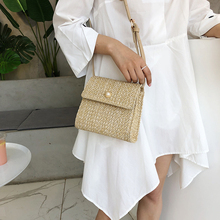 2019 new female bag straw bohemian woven beach shoulder Messenger summer fashion pearl bolsa ladies wallet