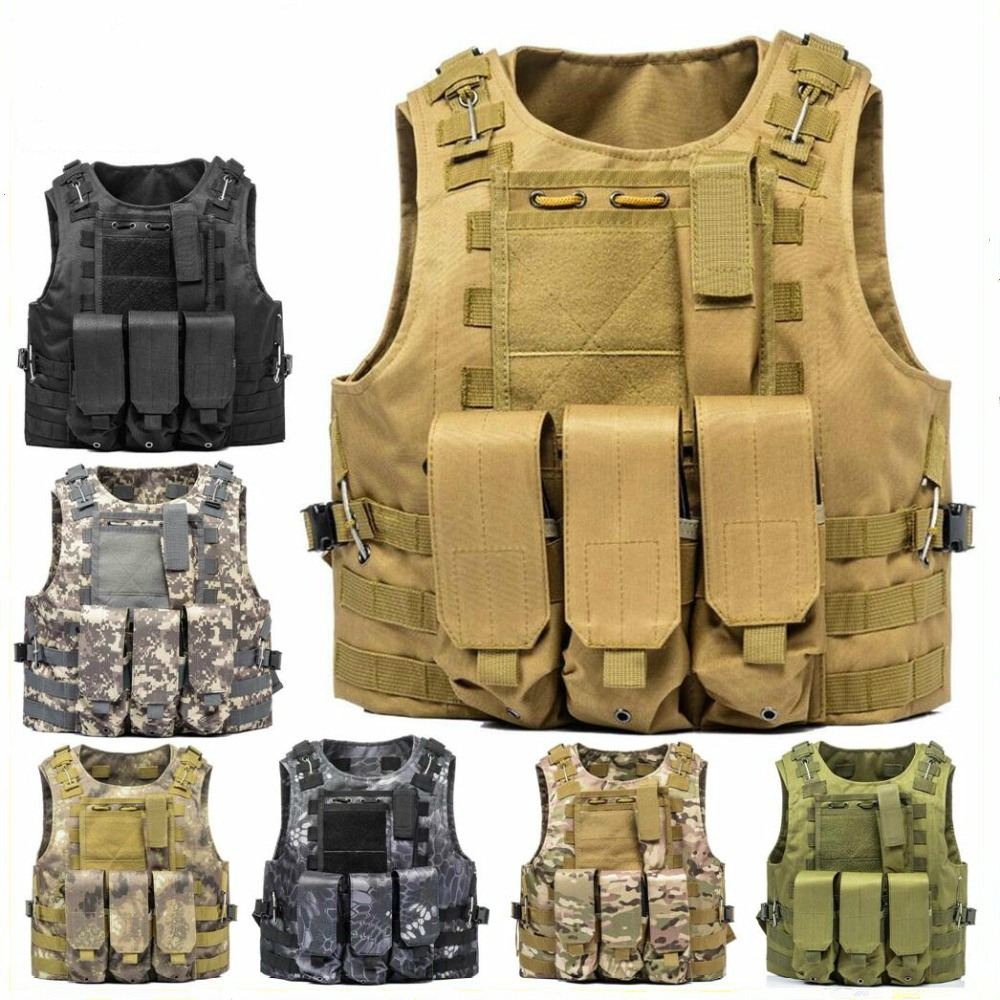 2021 New Military Gear Tactical Vest Assault Plate Carrier Tactical Vest 10 Colors Outdoor Clothing Hunting Vest