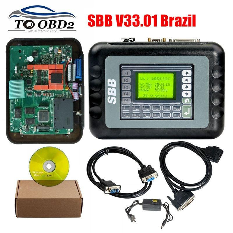 Brasil V33.01 Sbb Gm Código Pin Transponder Imobilizador OBD2 Programador De Chave