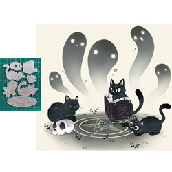 3pcs Black Cat Metal Cutting Dies DIY Scrapbooking Die 2020 New Album Embossing Paper Cards Decorative Crafts Die Cuts