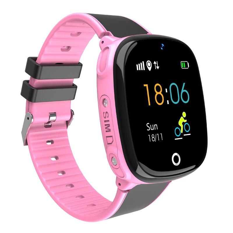 HD écran couleur GPS montre intelligente enfants carte SIM téléphone montre numérique garçon fille montres électroniques multi-fonction IP67 étanche