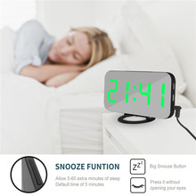ZOLLOR Large LED Digital Clock Nightlight Display Table Desktop Clocks with Dimmer Electric Snooze Sleep Function